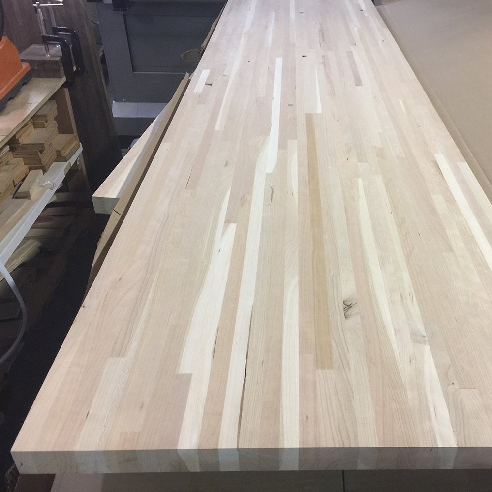Cherry Butcher Block Countertop - Custom Size - 72 Inches Length x 18 Inches Width x 1-1/2 Inches Thick
