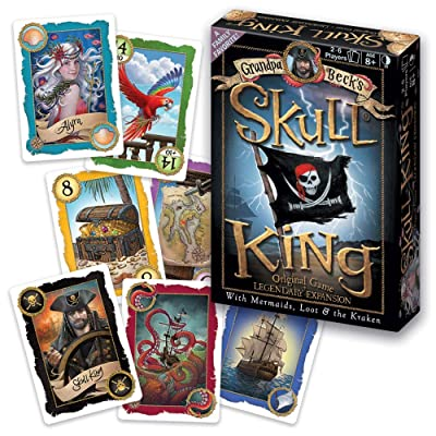 Grandpa Beck's Games Skull King - The Ultimate Pirate Trick Taking Game | from The Creators of Cover Your Assets & Cover Your Kingdom | 2-6 Players 8+: Toys & Games