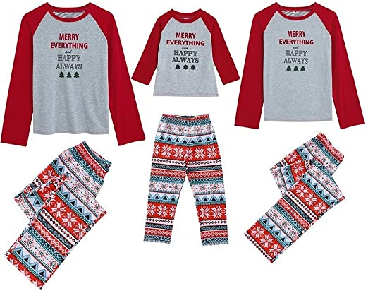 Kehen Family Matching Set Christmas Holiday Pj Pajamas Mama//Baby//Papa Bear Autumn Winter Cotton Home Wear