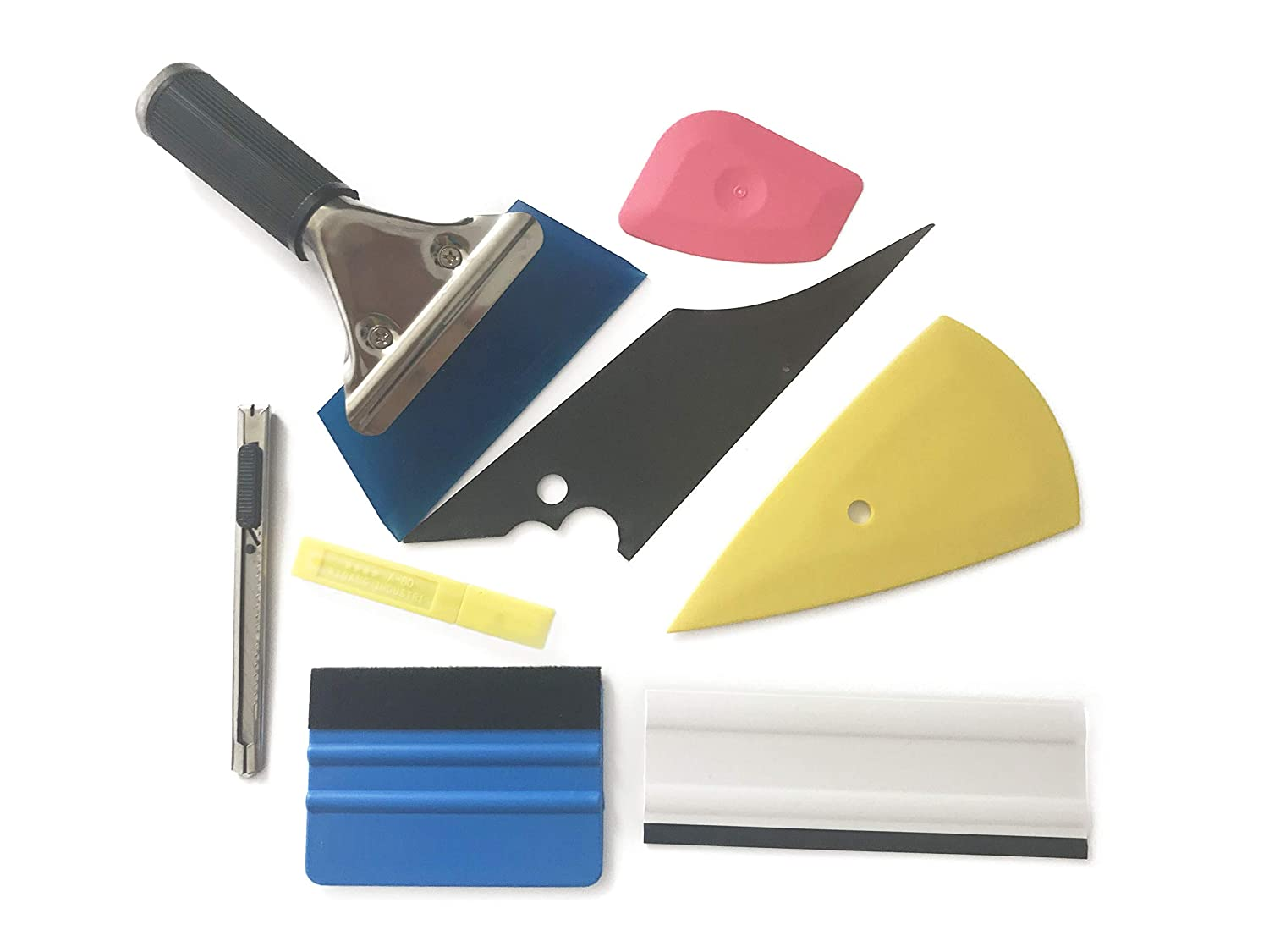 Scrapers Beilala 7 PCS Vehicle Glass Protective Film Car Window Wrapping Tint Vinyl Installing Tool Film Cutters Squeegees