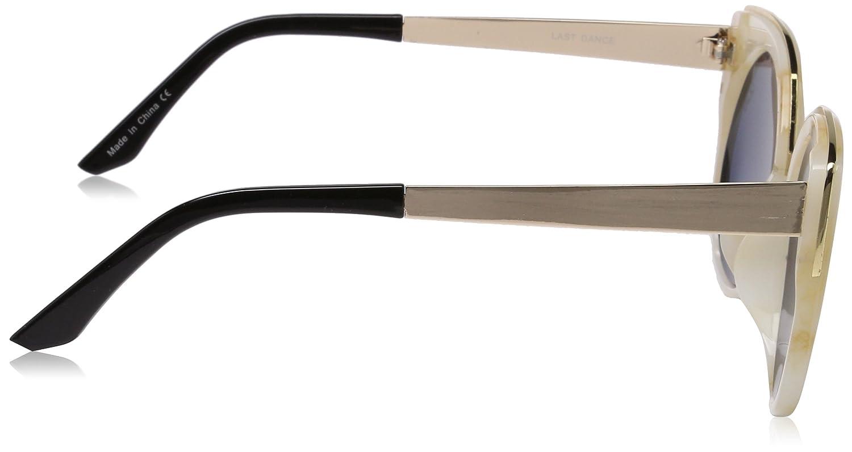 Quay Eyewear QU-000147 KANDY GRAM Oval Sonnenbrille 140, Gold/Green