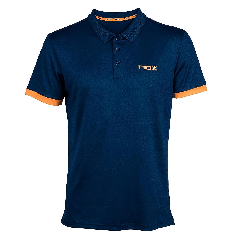 NOX Polo Pro Azul Marino con Logo Naranja: Amazon.es: Deportes y aire libre