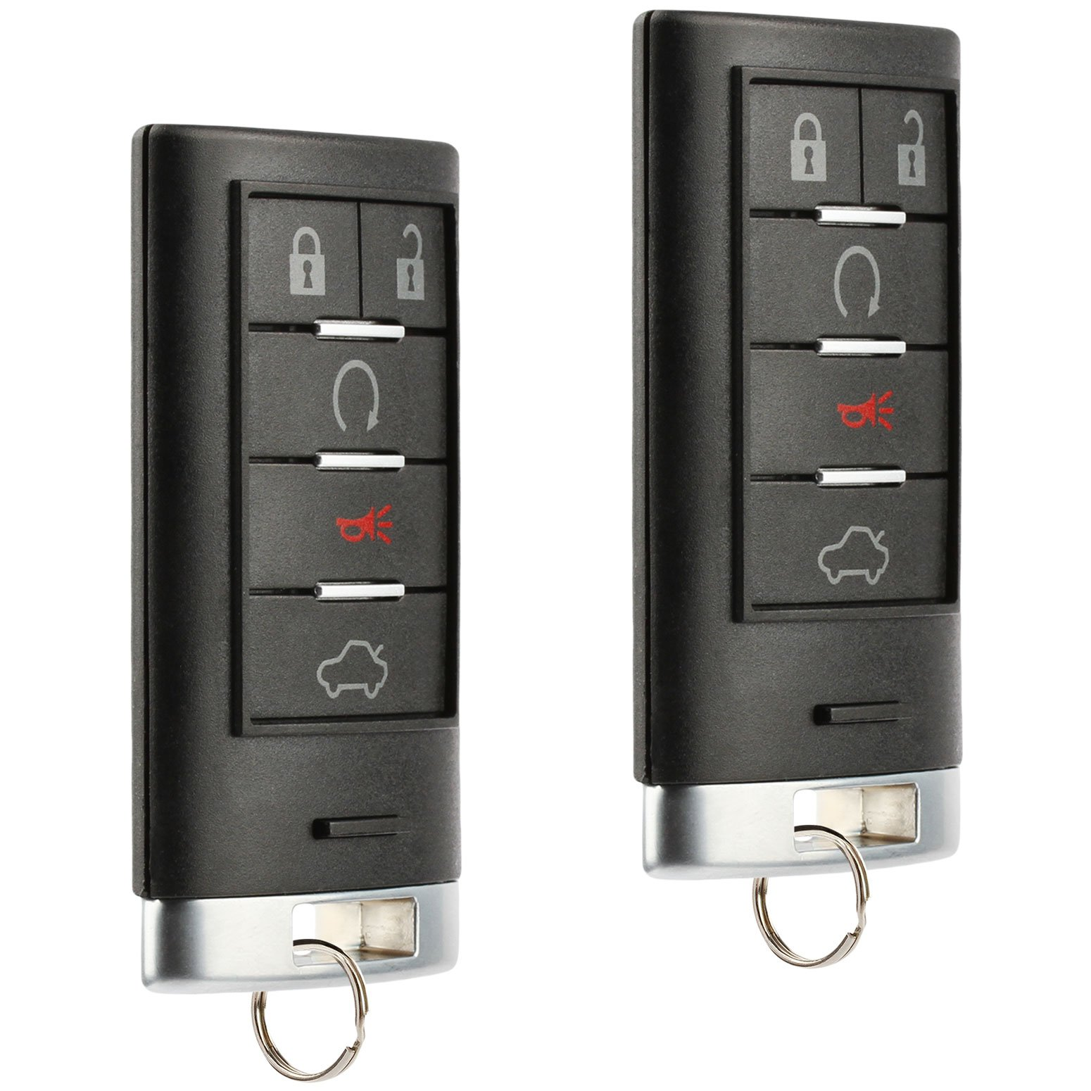 Smart Key Fob Keyless Entry Remote fits Cadillac CTS STS 2008 2009 2010 2011 2012 2013 2014 (M3N5WY7777A), Set of 2