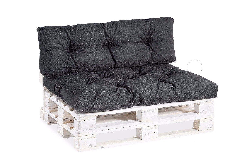 Seduta Schienale,Trapuntato PP gutekissen Cuscino per bancale Cuscino Decorativo 40x40, Antracite Cuscini per Pallet Divani