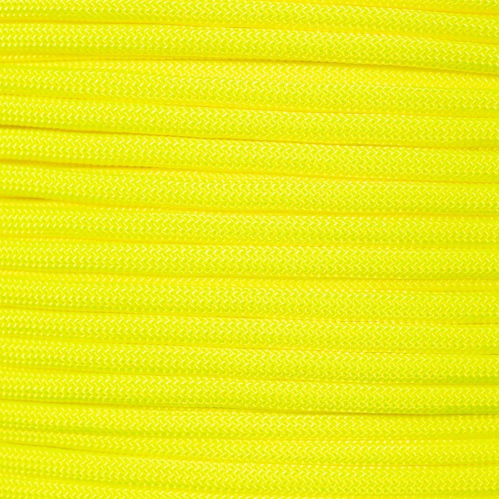 PARACORD PLANET 550 Cord Type III 7 Strand Paracord 250 Foot Spool - Bright Yellow
