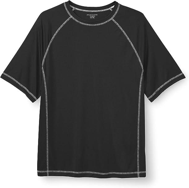 Essentials mens big-tall Big /& Tall Long-sleeve Quick-dry Upf 50 Swim Tee