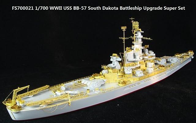 1/700米海軍 WWII BB-57 戦艦サウスダコタ スーパーセット