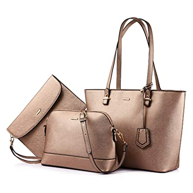 78da3751f008 Image Unavailable. Image not available for. Color  Brand 3 Sets Handbag  Women Composite Bag Female Large Capacity Tote Bag Fashion Shoulder Crossbody  Bag