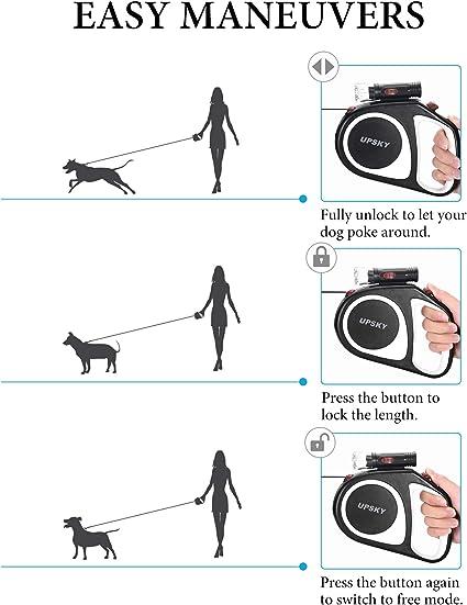 3M Azul YIBING Correa retr/áctil para Perros Correa Flexible autom/ática para Perros Cachorro de Gato Correa de Cuerda Correa para Perros peque/ños y medianos