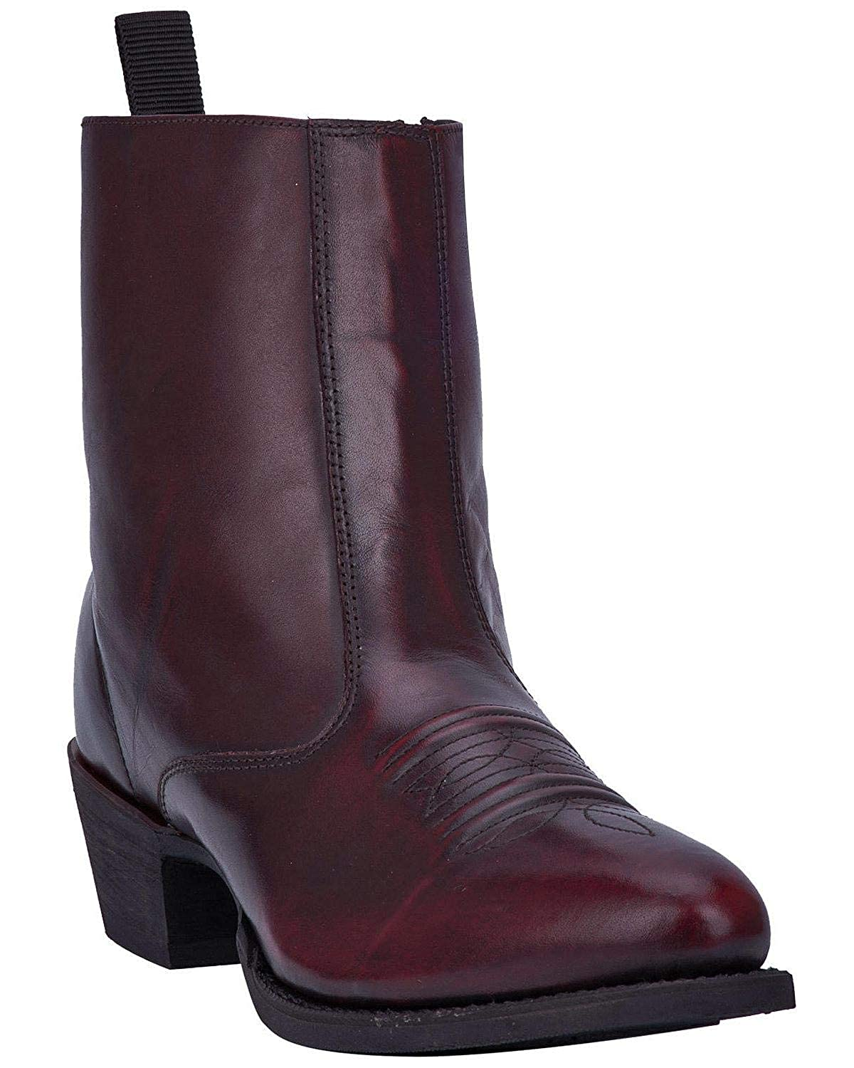 b9ed234369a Amazon.com | Laredo Men's Antique Cherry Side Zipper Western Boot ...