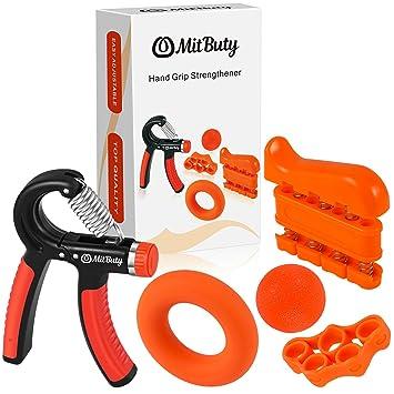 MitButy Hand Grips - Kit de 5 Fortalecedores de Manos: Hand GripAjustable (10 a