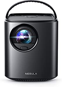 Nebula Mars Portable Cinema, Home Theater, 150 in HD Picture, 500 ANSI Lumens, 4K and 3D Support, with Wi-Fi, Two 10W Speakers, 3-Hour Playtime, DLP, and Android 4.4 for Music, Movies (Renewed)