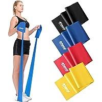 Taśma oporowa do ćwiczeń | 1,2 metra lub 2 metry | Wybierz 1 z 4 poziomów oporu | Darmowy przewodnik treningowy w pliku…