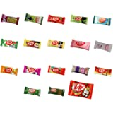 Assortment of 18 Japanese Miniature Kit Kat Including Green Tea, Strawberry Cheesecake, Wasabi, Rum Raisin