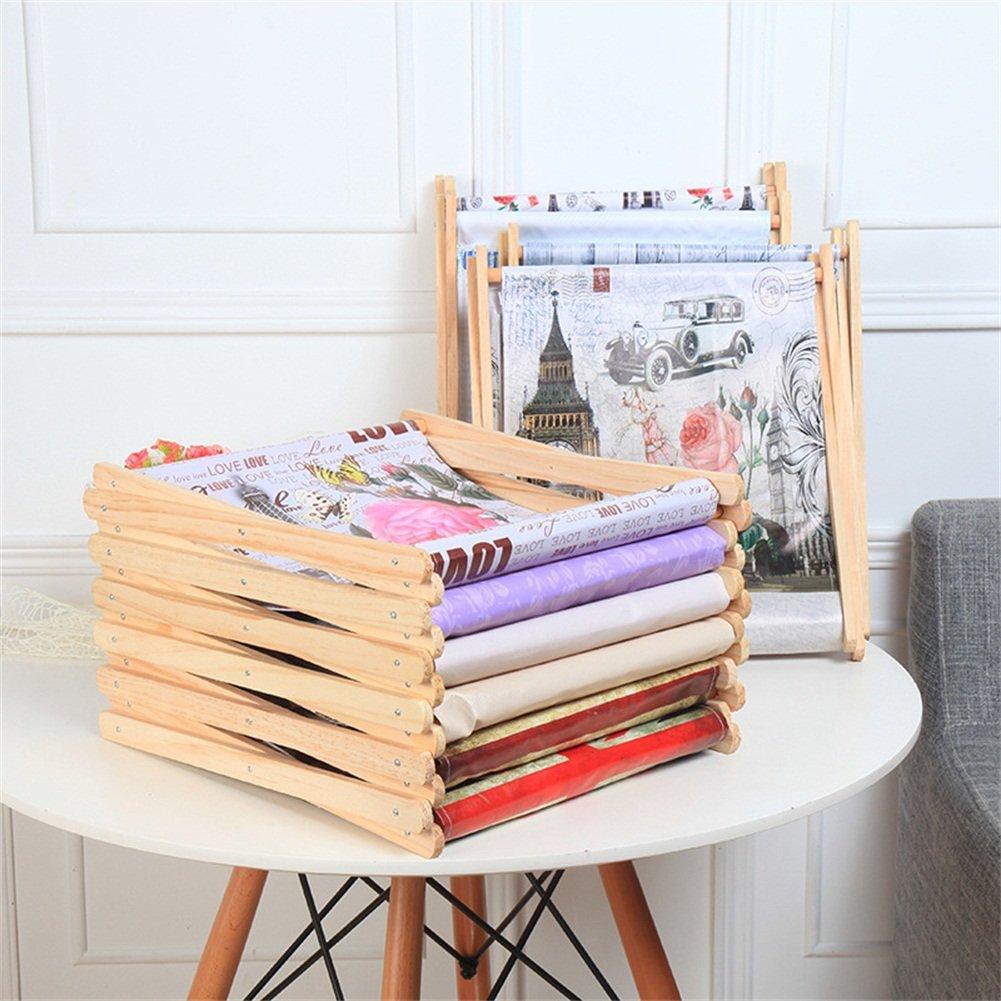 Foldable Storage Baskets - Waterproof Canvas & Pine Wood Storage Bins Square Storage Basket Wooden Shelves Storage for Toys, Desks, Makeup (British flag) by TOPCHANCES (Image #3)