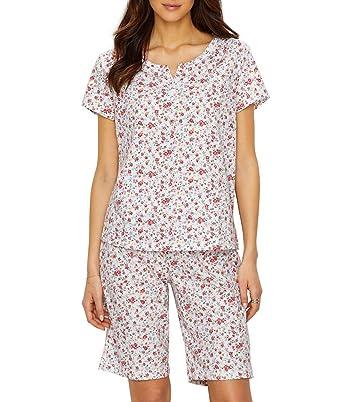 0cc5a6c7c28c Karen Neuburger Bermuda Knit Pajama Set at Amazon Women s Clothing ...