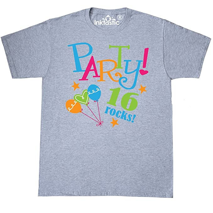 79df1b57 inktastic 16th Birthday Party Gift T-Shirt Small Athletic Heather