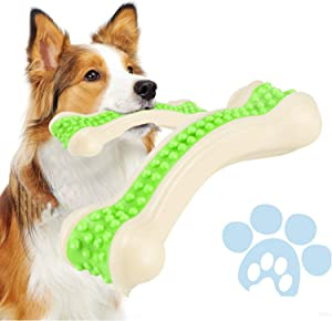 Petony Dog Chew Toys, Durable Dog Toys for Aggressive Chewers, Teeth Cleaning, Safe Bite Resistant Toothbrush Stick for Puppies & Middle Dogs
