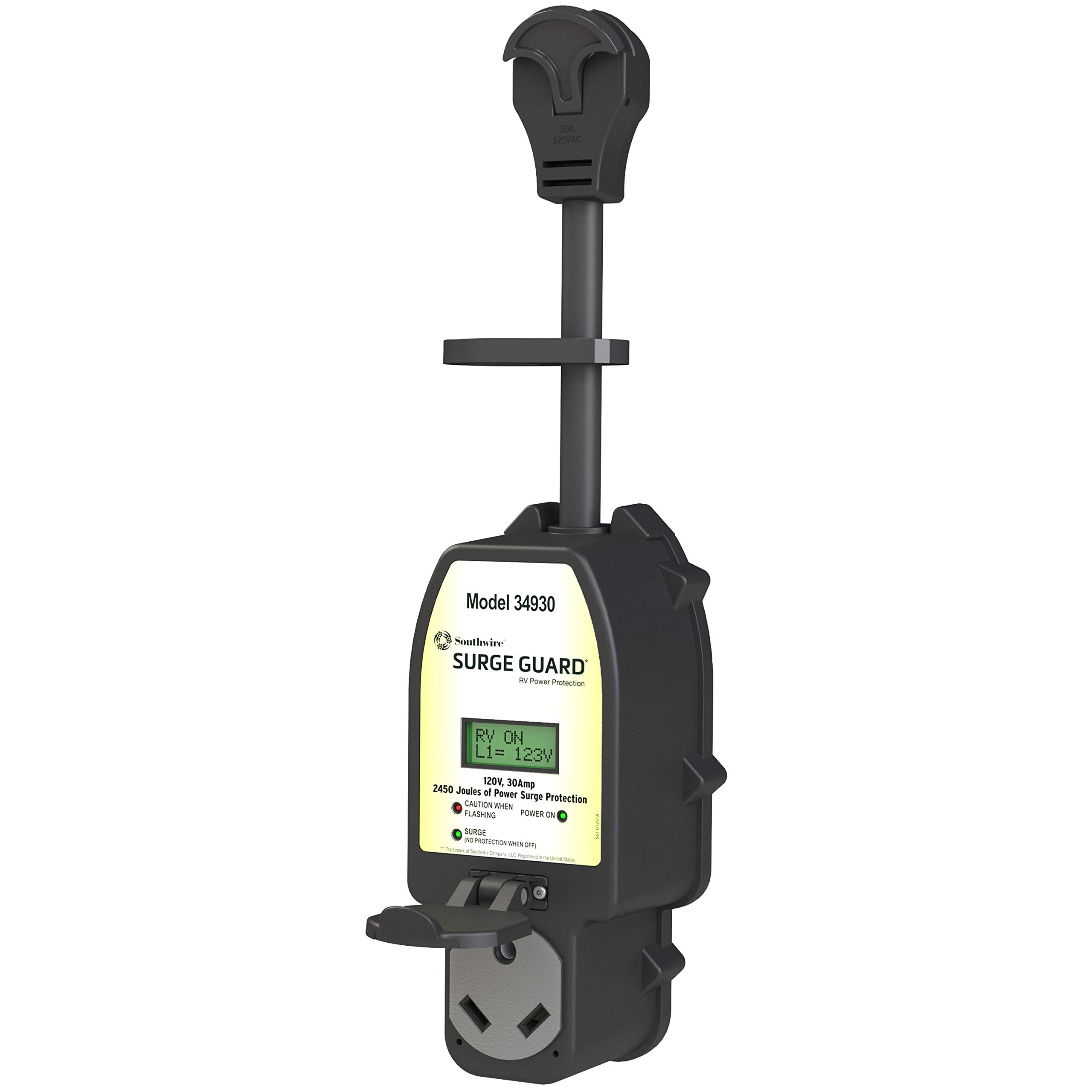 Southwire Black 34930 Surge Guard 30A-Full Protection Portable with LCD Display by Southwire (Image #1)