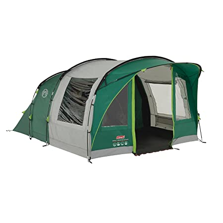 Coleman Rocky Mountain 5 Tunnel Tent – 5 Person, Green, with Blackout Windows