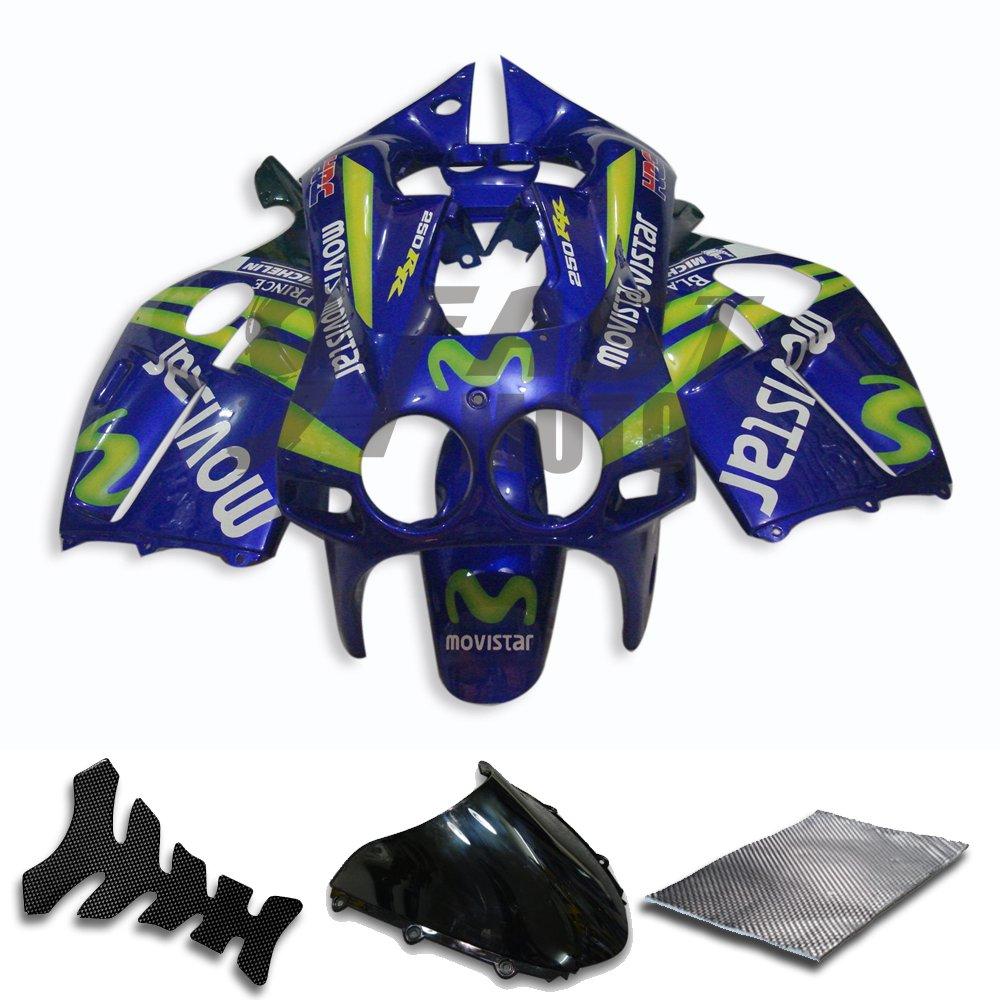 9fastmoto Fairings For Honda 1988 1989 Cbr250rr Mc19 88 Tankpad Cbr 250 Rr Original 89 Cbr250 Mc 19 Motorcycle Fairing Kit Abs Injection Set Sportbike Cowls Panels Blue