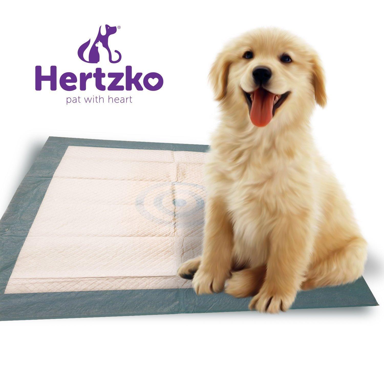 Hertzko Sehr saugfähige Unterlagen, für Reinlichkeitserziehung von Hunden und Katzen, mit dicken und auslaufsicheren Einsätzen, Größe L, 50 Stück