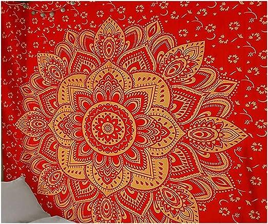 Tapices de Mandala Tapices, Tapiz Hippie Arte de la pared Colcha de colcha de algodón indio