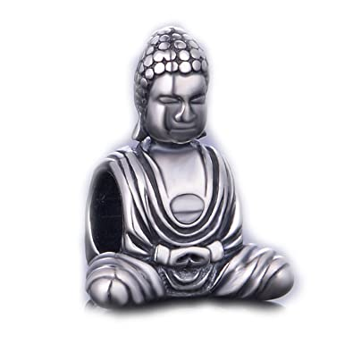 c8329f5f4 925 Sterling Silver Buddha Charms Bead Fit for Pandora Bracelet: Amazon.ca:  Jewelry