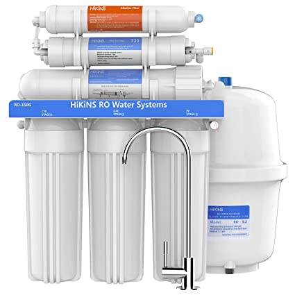 96d128e2d HiKiNS Alkaline Reverse Osmosis System 150GPD 6-Stage High Flow Home  Drinking RO Water Filter