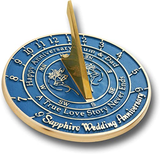 Amazon Com The Metal Foundry Personalized 45th Sapphire Wedding Anniversary Sundial Gift Idea Is A Great Present For Him For Her Or For A Couple To Celebrate 45 Years Of Marriage