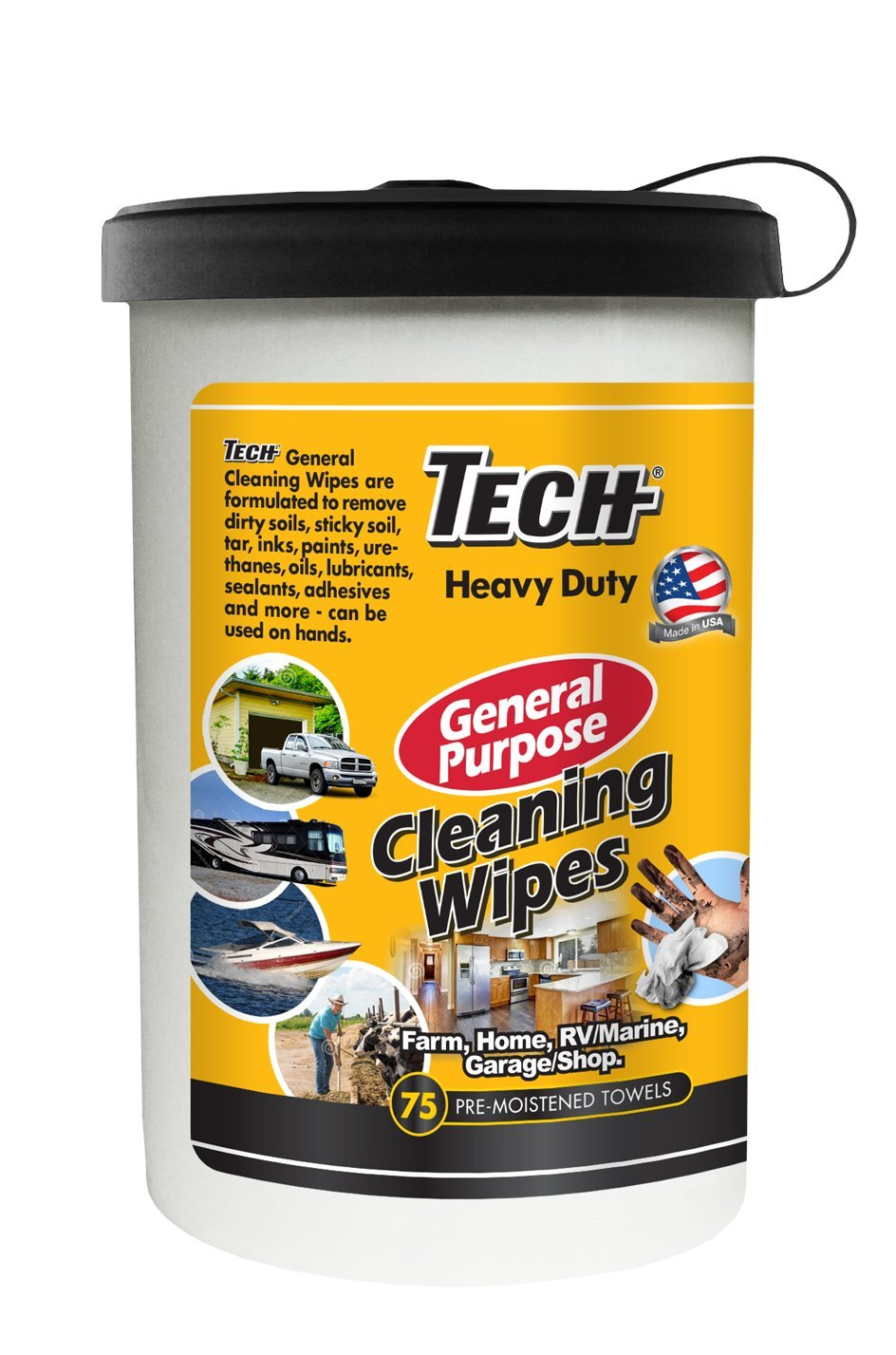 Tech General Purpose Wipes - 75 Count (33175) by Tech (Image #1)