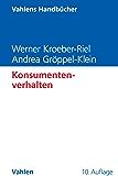 Konsumentenverhalten (Vahlens Handbücher der Wirtschafts- und Sozialwissenschaften)