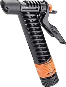 Claber 8967 Trigger Action Garden Hose Spray Nozzle,Black, Orange