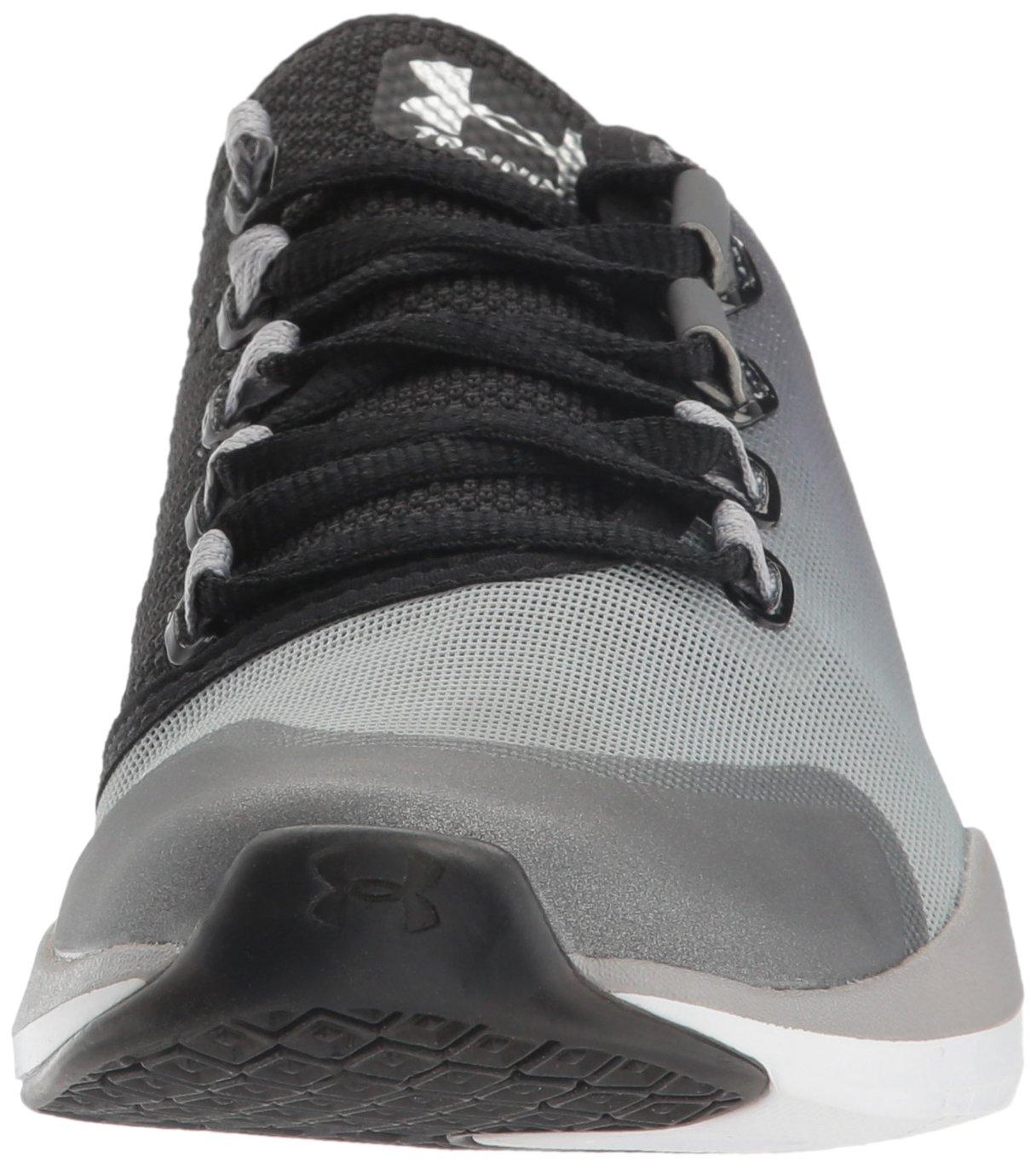 Under Armour Women's Charged Push Cross-Trainer Shoe B01GSOCTLO 10 M US|Rhino Gray (076)/Black