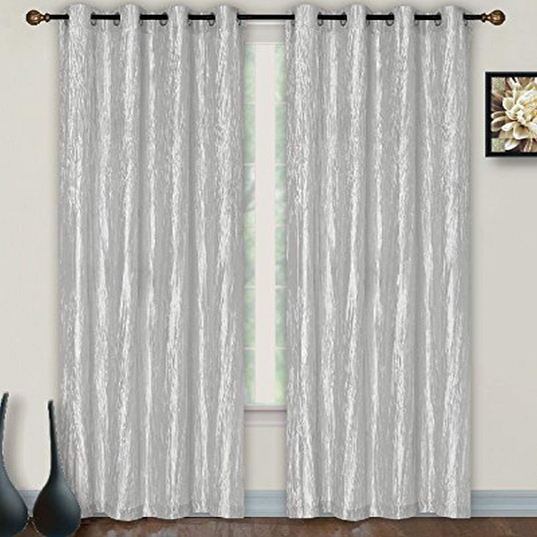 Dainty Home Verona Crushed Taffeta Grommet Window Panel, 55 x 84-Inch, Gray