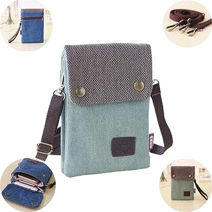7dba09d1ee6 Urmiss Women Candy Green Mini Cute Crossbody Bag Cellphone Wallet Purse  Loose Change Pouch Case for