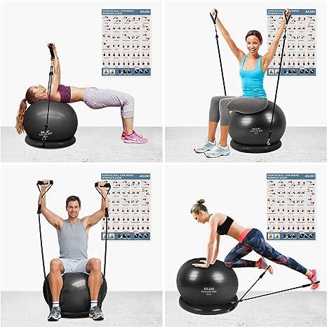 Amazon.com: AILUKI - Pelota de yoga, balón de ejercicios de ...