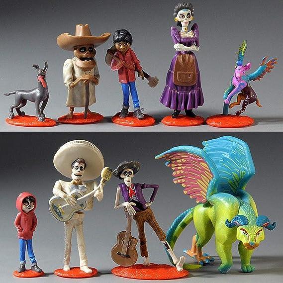Conjunto de 9 juegos de figuras de acción Coco modelo muñeca decoración de pastel