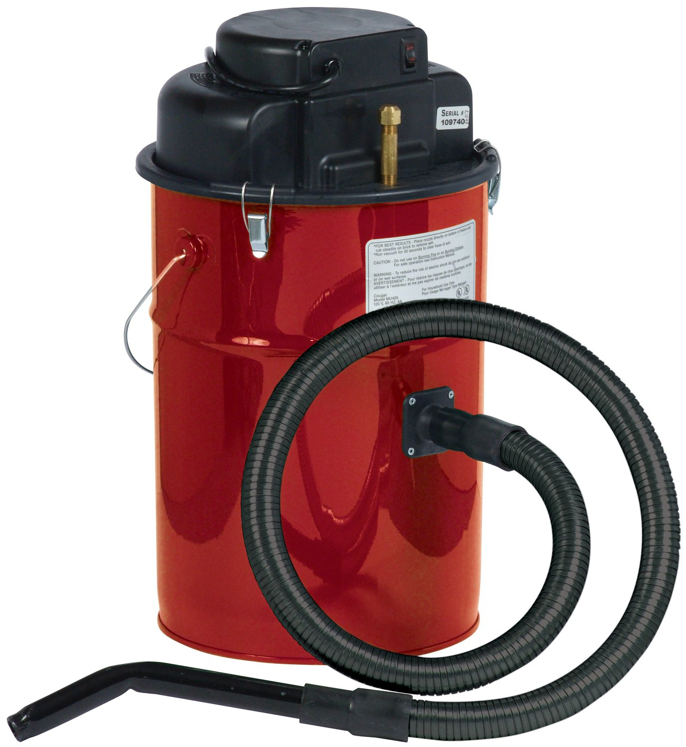 Cougar Ash Vacuum, Red, Made in USA
