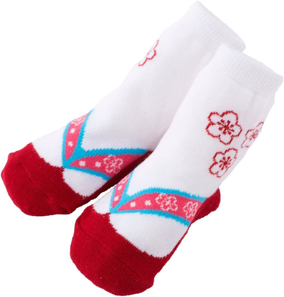 FUN fun (ファンファン) 足袋柄ソックス 女の子 赤ちゃん 12~15サイズ