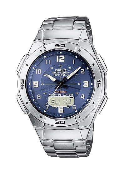 CASIO WVA-470DE-2AVEF - Reloj de caballero de cuarzo, correa de acero