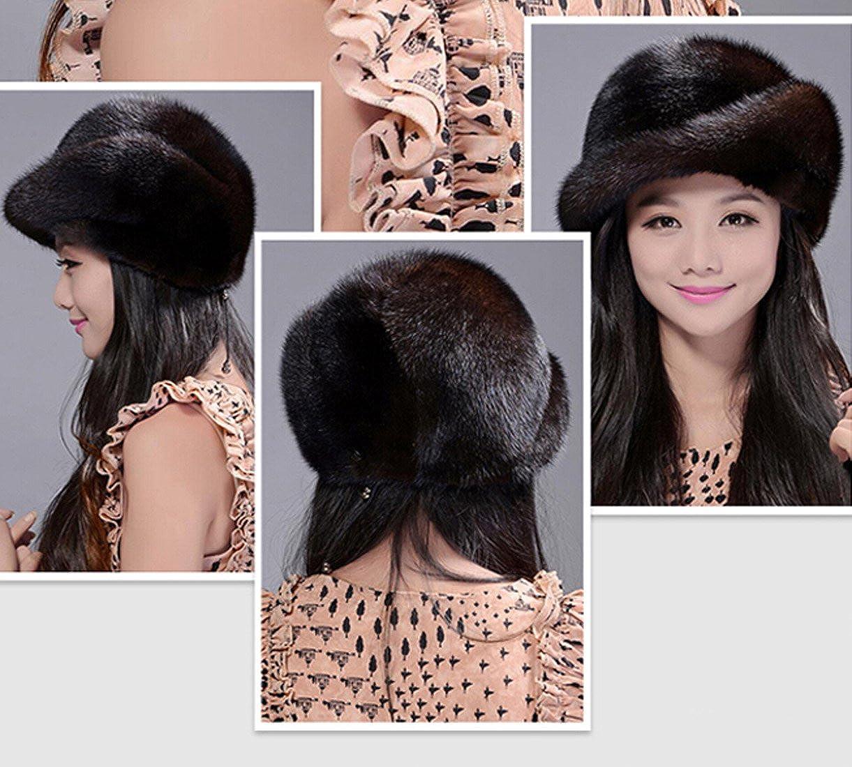 Easting Hot Fashion Women Winter Genuine Mink Fur Hats