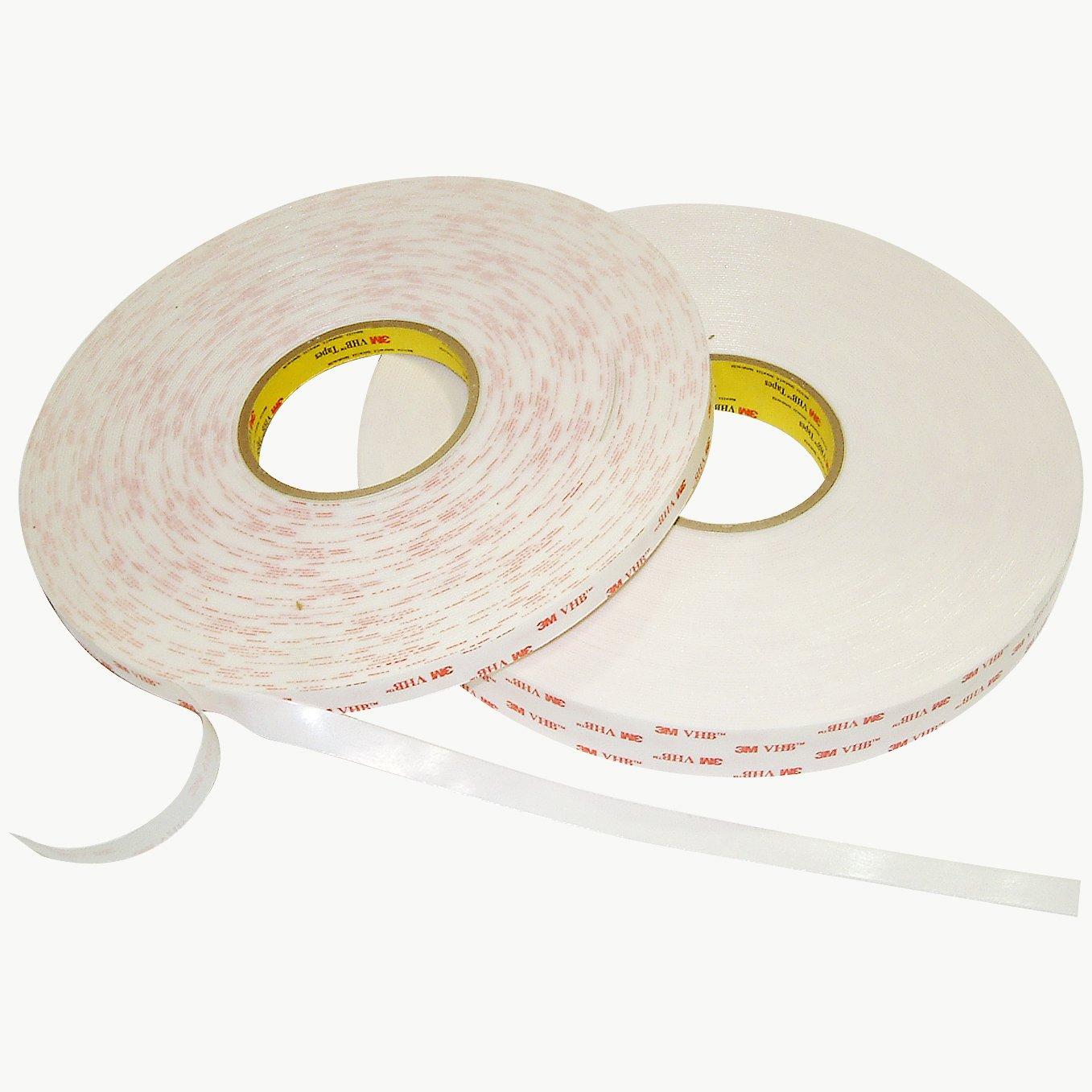 3M 4950/WI15 Scotch 4950 VHB Tape: 1'' x 15 ft, White