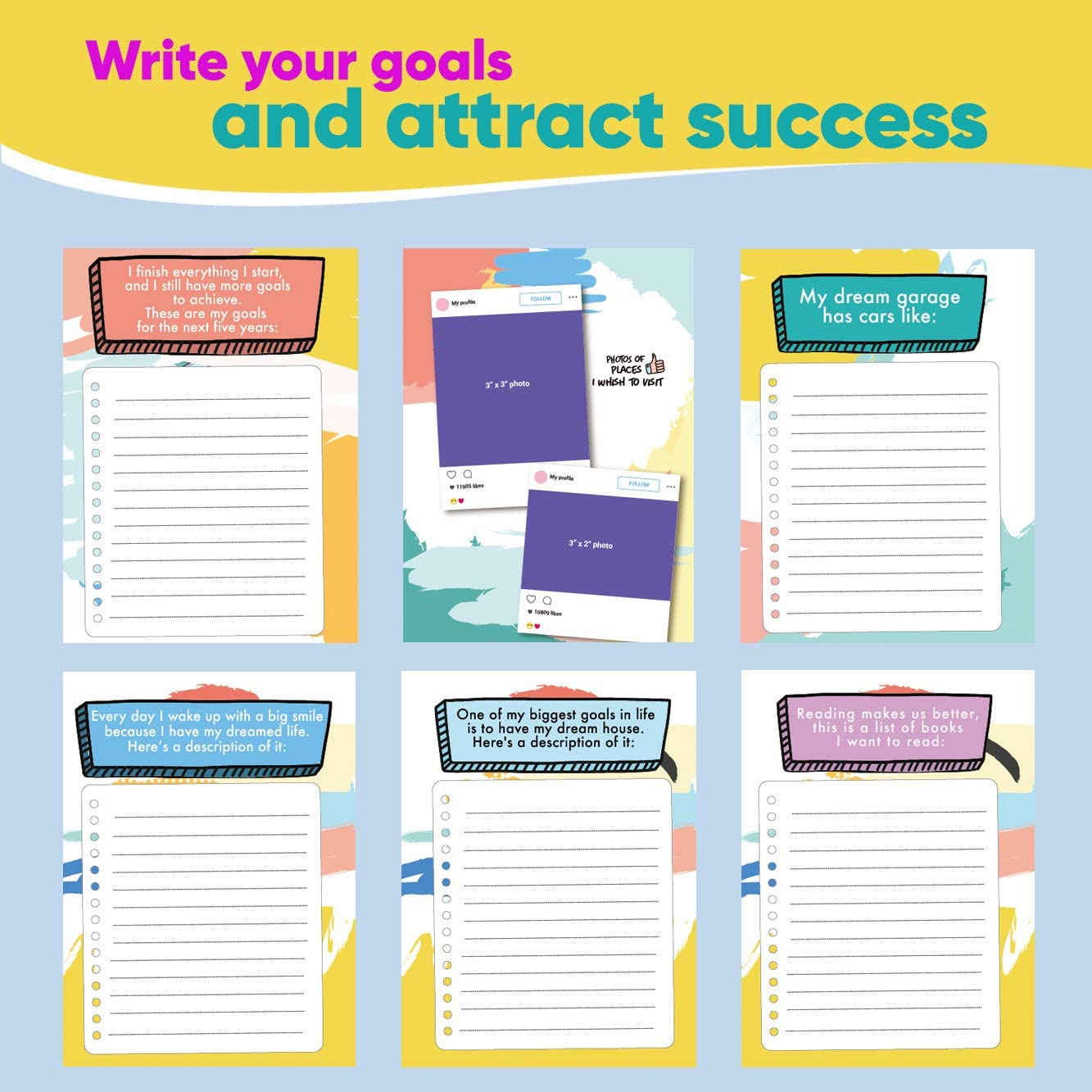 Grey Letters to My Future Self. Increase Productivity and Success Achieve Your Goals Goal Setting Planner and Self-Exploration Book Law of Attraction Planner