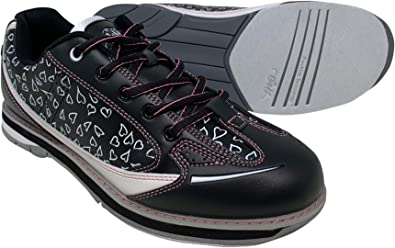 SaVi Bowling Products Womens Vienna Hearts White//Black//Pink Bowling Shoes/_ Ladies Stylish Lace Up w//Universal Soles for Right or Left Handed Bowlers