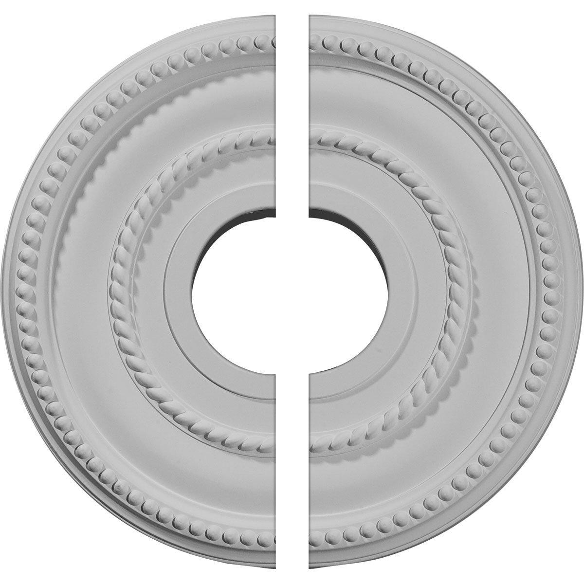 Ekena Millwork CM12VA2 12 1/8''OD x 3 5/8''ID x 3/4''P Valeriano Ceiling Medallion, Fits Canopies up to 6-1/4'', 2 Piece by Ekena Millwork