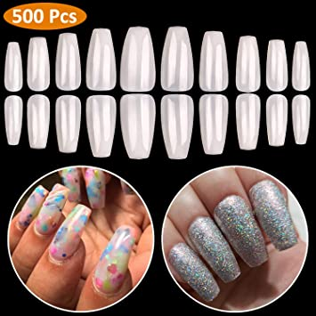 Smart Fake Long Diy Coffin Shape Nail Art Tips False Cover False Ballerina Nails Making Things Convenient For Customers Health & Beauty Nail Care, Manicure & Pedicure