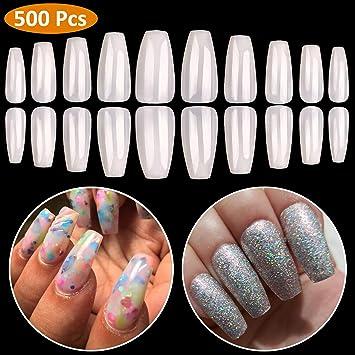 Smart Fake Long Diy Coffin Shape Nail Art Tips False Cover False Ballerina Nails Making Things Convenient For Customers Health & Beauty Nail Care, Manicure & Pedicure