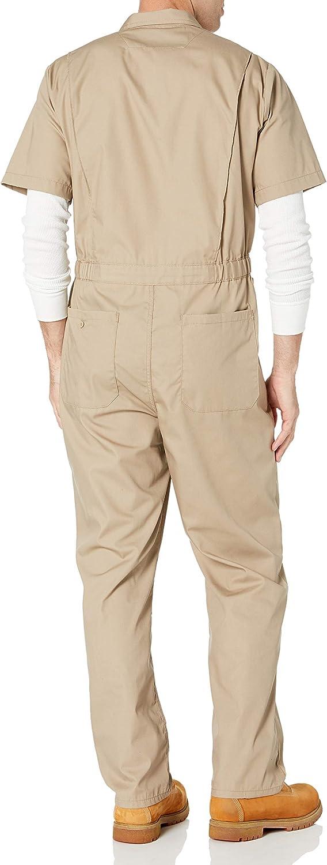 Essentials Herren Stain /& Wrinkle-Resistant Short-Sleeve Coverall