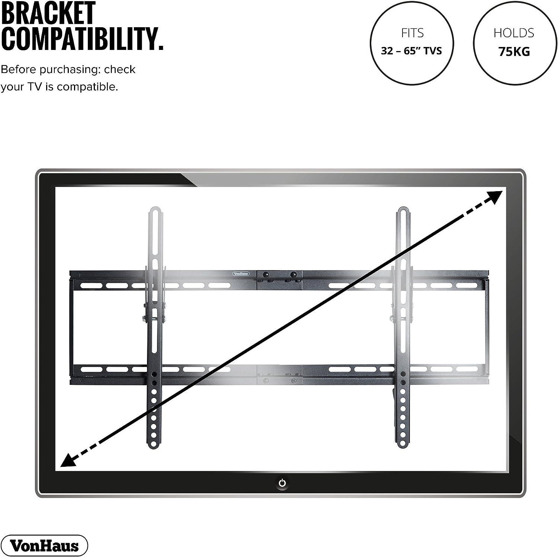 VonHaus Soporte de Pared de TV Inclinable de 32-65 Pulgadas: Amazon.es: Electrónica